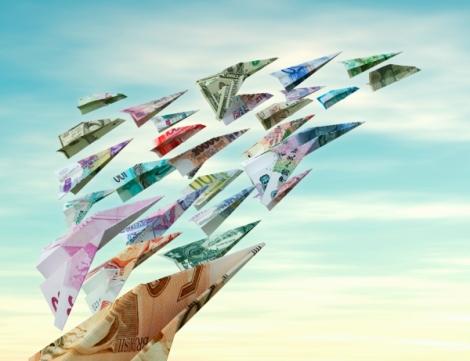 dinero-volando